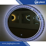 Frameless Hotel Silk Screen LED Mirror avec horloge LED