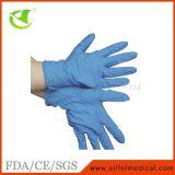 Luvas pulverizadas médicas da examinação do nitrilo dos primeiros socorros