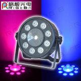 A PARIDADE barata 64 PARIDADE do diodo emissor de luz do controle de 9LEDs 3W do diodo emissor de luz do estágio de China ou de 1LEDs *10W RGB 3in1 DMX pode iluminar-se