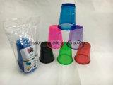 7oz 플라스틱 애완 동물 네온 색깔 당 컵