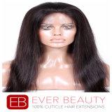 Frontal pieno diritto peruviano superiore del merletto dei capelli umani di Remy