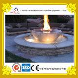 Runder Pool-Wasser-Brunnen mit bunter Beleuchtung