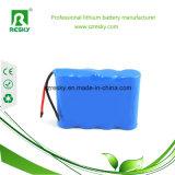 18650 paquete de la batería de litio de 7.4V 4000mAh para la linterna que acampa del LED