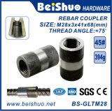 Manicotto connettente d'acciaio dell'accoppiatore del tondo per cemento armato/accoppiatore d'impionbatura del tondo per cemento armato per costruzione