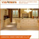 Modules de cuisine classiques prêts à l'emploi en bois solide pour la décoration de cuisine