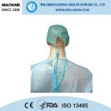Desechable gorra médica no tejida Doctor con el lazo de