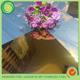 201 van uitstekende kwaliteit het Blad van het Roestvrij staal van de Spiegel van 304 Kleur voor Binnenlandse en BuitenDecoratie