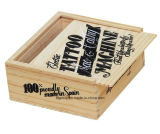 Contenitore personalizzato di vino di legno solido con lo sguardo dell'annata