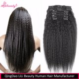 販売のための人間の毛髪の拡張のRemyブラジルのクリップ