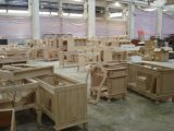 Tradtional festes Holz-Badezimmer-Eitelkeit 2017 mit einzelnem Behälter-Wannen-Fußboden - eingehangene Marmoroberseite Asv1014