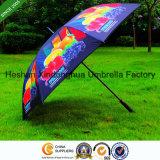 Parapluie protégeant du vent de golf de pleine fibre de verre d'impression avec le logo de Customerized (GOL-0027FAC)