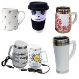 Tazza di caffè di ceramica, tazza promozionale della porcellana con il coperchio