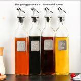 Бутылка жидкостного Condiment способа стеклянная с крышкой