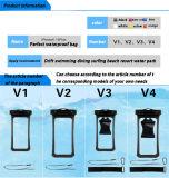 Heißer Verkauf V4 Belüftung-wasserdichter Handy-Beutel mit Haken