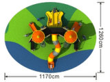 Оборудование игры скольжения спортивных площадок малышей напольное устанавливает HD-025A