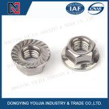 DIN6923 Hexagon Noot van het roestvrij staal met Flens