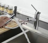 A única alavanca retira a torneira de misturador da cozinha do Faucet do dissipador