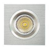 Потолочное освещение алюминия GU10 MR16 квадратное утопленное фикчированное СИД Lathe (LT2109)