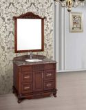 Solid Pavimento-montato commercio all'ingrosso Wood Bathroom Vanity con Mirror