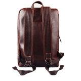 ラップトップ袋のブラウンのカスタム流行の人の実質の革バックパック
