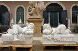 花こう岩の砂岩(SY-X1389)が付いている大理石の彫刻を切り分ける切り分けられた石造りの彫像