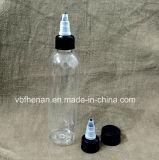 bouteille en plastique de l'animal familier 120ml avec le chapeau de torsion