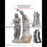 Marmeren Standbeeld Mej.-909 van Carrara van het Standbeeld van het Graniet van het Standbeeld van de Steen van het Standbeeld Wit