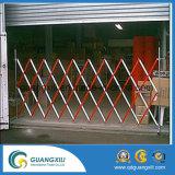 Barreira expansível de segurança temporária móvel em alumínio
