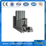 Varios perfiles de aluminio anodizado coloridas para la fabricación de ventanas y puertas
