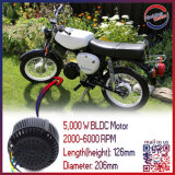 наивысшая мощность Brushless BLDC Motor 48V 5kw для Electric Motorcycle