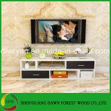 Moderner einfacher Entwurfs-Qualitäts-Partikel MDF-Fernsehapparat-Schränke Fernsehapparat-Standplatz mit Fächern