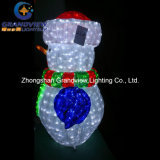 Boneco de neve acrílico do diodo emissor de luz para Holiday Lighting com CE RoHS