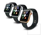 Ouro esperto por atacado Smartwatch do relógio A9, OEM esperto novo do relógio da frequência cardíaca A9 de WiFi com aço inoxidável do podómetro
