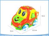 Giocattoli educativi dell'automobile elettrica con i giocattoli dei blocchetti di formazione e di musica