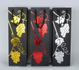 Saco de papel feito sob encomenda luxuoso do presente do frasco de vinho