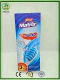 Starker Gleitschutzgriff mit Zunge-Reinigungsmittel erwachsener Massage-Matrix-Zahnbürste