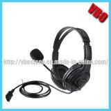 Auriculares biauriculares do USB da definição elevada com o ruído que cancela o microfone
