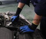 Перчатка работы голубого нитрила покрытия полно и нитрила 3/4 Sandy покрынных на ладони (N1572)