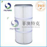 Filtro dell'aria pieghettato lavabile della cartuccia del collettore di polveri del poliestere