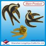 Pin Cloisonne de la divisa del esmalte de imitación duro de la manera (LZY-10000139)