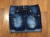 Dames Kort Jean Skirt
