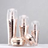 Бутылка косметики опарника роскошного серебряного высокого качества Elegent пластичная акриловая косметическая упаковывая Cream