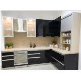 白いラッカー光沢度の高いモジュラー中国の現代食器棚