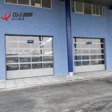 ガレージの産業アルミニウムフレームのガラス透過部門別のドア