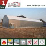 Großes grosses Polygon-Aluminiumzelt als Fabrik und Lager