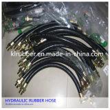 Mangueira de borracha hidráulica trançada do fio de aço de R1002at/2sn