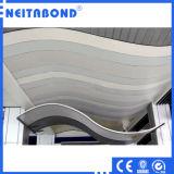 el panel compuesto de aluminio 4m m incombustible de 3m m para el adornamiento de la pared