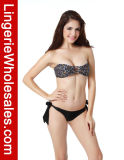 Reizvolles Strappy Bandeau Top Bikini Pretty in Floral Pattern Swimwear
