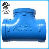 Te Grooved de la instalación de tuberías del hierro dúctil aprobado de FM/UL