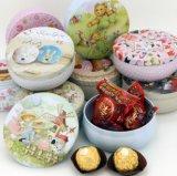 Fabrique procurable dans le cadre rond courant de faveur de mariage de forme de tambour, boîte à thé de fleur de Rose, boîte-cadeau de Noël, boîte-cadeau de chocolat